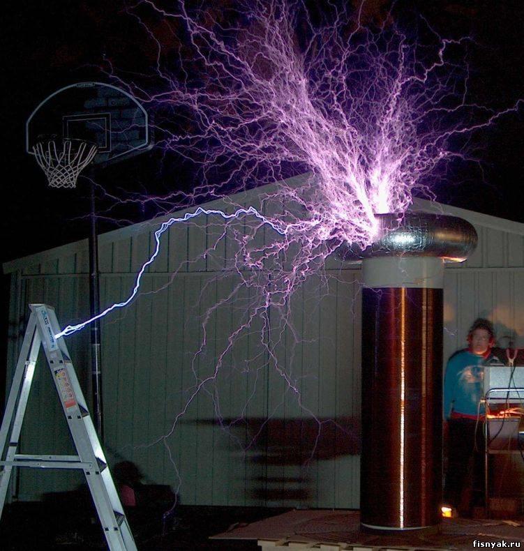 Схема простейшего Трансформатора Тесла: Модификации Трансформатора Тесла.  Схема 1. Качатель реактивностей.