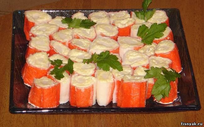 Закуски из крабовых палочек рецепты с фото