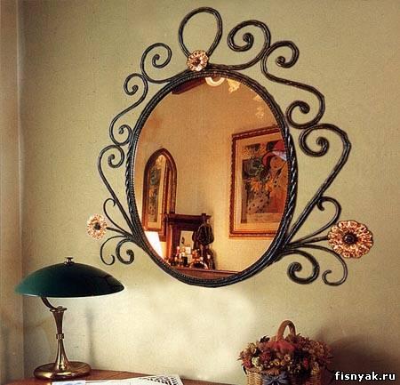 Надо прозрачную поверхность перед амальгамой зеркала сделать не из обычного...
