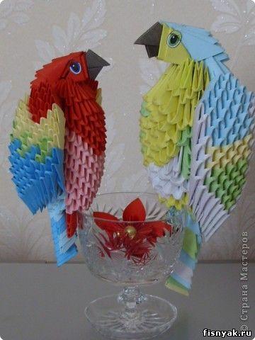 Модульное оригами из бумаги: как сделать треугольный модуль.